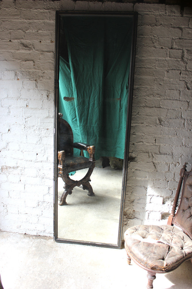 A Good Large Victorian Ebonised Full Length Mirror c.1895