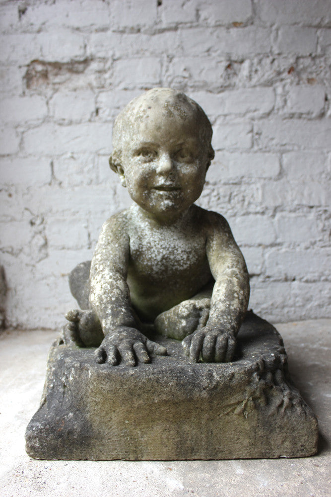 An Unusual & Finely Carved 19thC Marble Sculpture of a Baby
