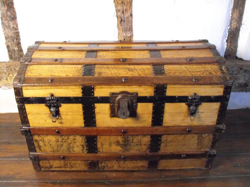 A Quality Late Nineteenth Century Dome Topped Travelling Trunk