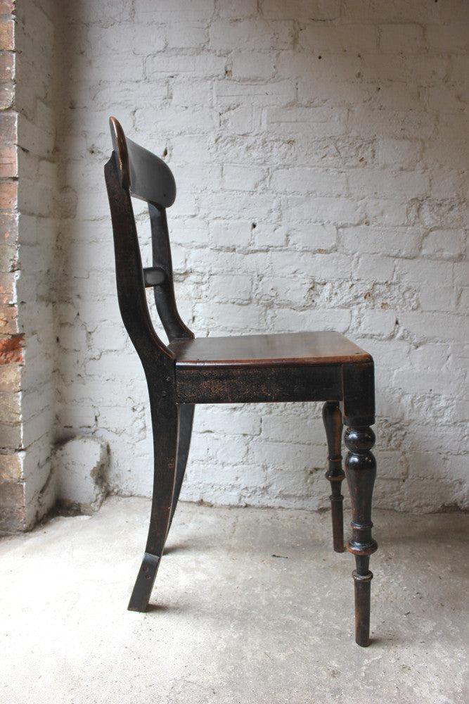 A Gorgeous Walnut c.1850s Victorian Schoolmaster's Chair