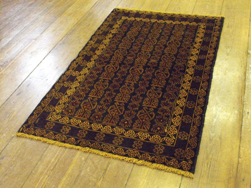 A Highly Geometrical Herat Belouche Rug: 138cm x 85cm