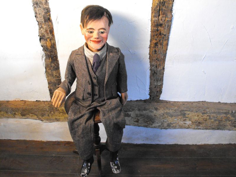 A Fantastic Quality Early 20th Century Ventriloquist's Dummy