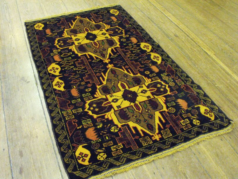 A Good Herat Belouche Rug: 151cm x 95cm