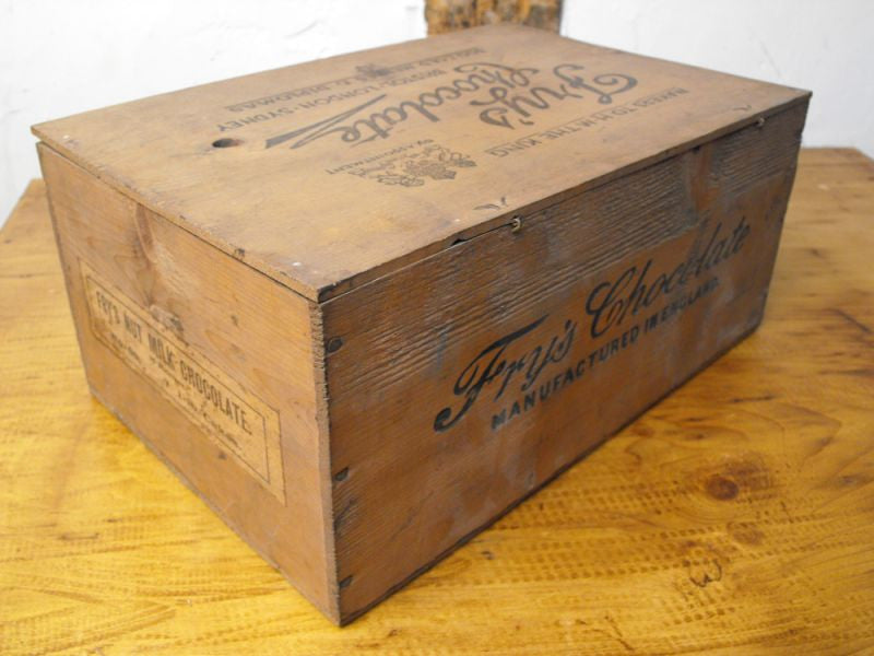 A Rare Antique Pine J. S. Fry & Sons Nut Milk Chocolate Display Counter Box