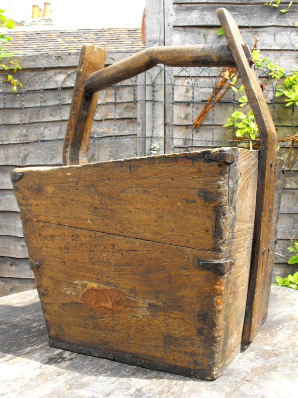 A Rustic Chinese Oak & Elm Water Bucket