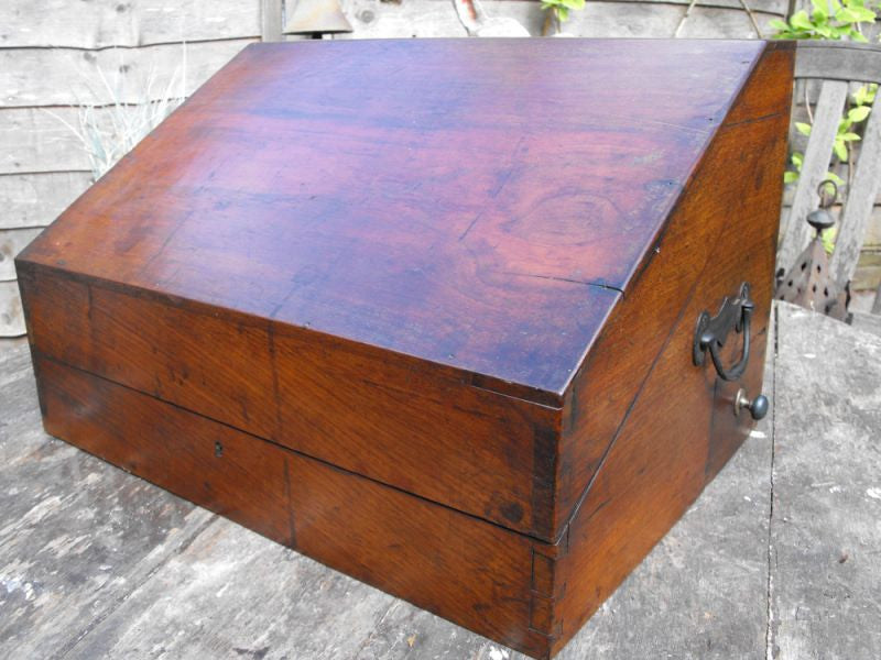 A Superb French Mahogany Campaign Apothecary Chest to Include Thirty-Five Bottles