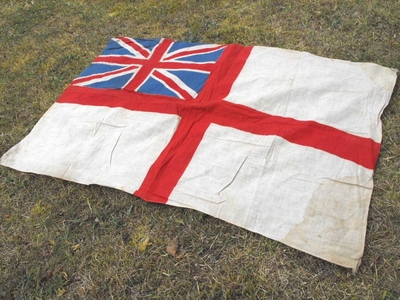 A British Vintage Royal Navy White Ensign Flag