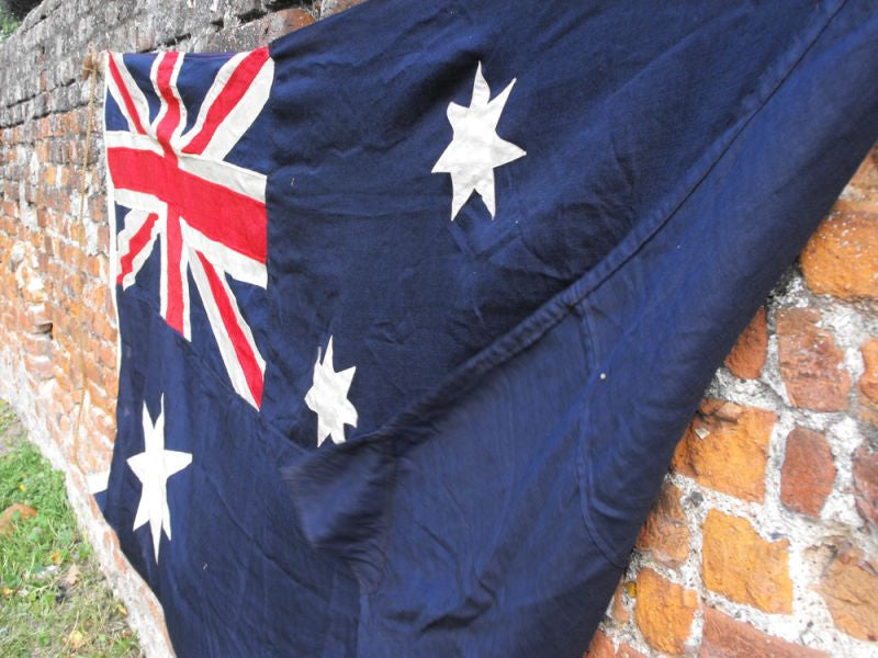 A Heavy Quality Large Vintage Applique WWII Period Australian Flag