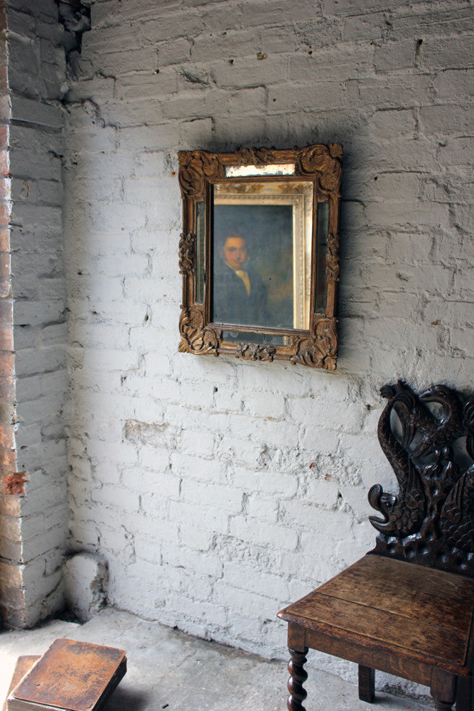 A Good 19thC Italian Gilt & Gesso Rectangular Wall Mirror