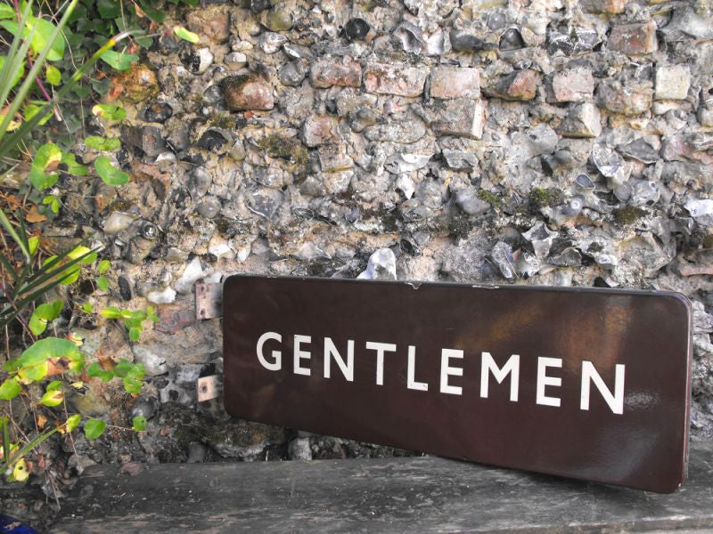 A Large Original British Railways Double-Sided Enamel Wall Sign From St. Anne's Park Station, Bristol; 'Gentlemen'