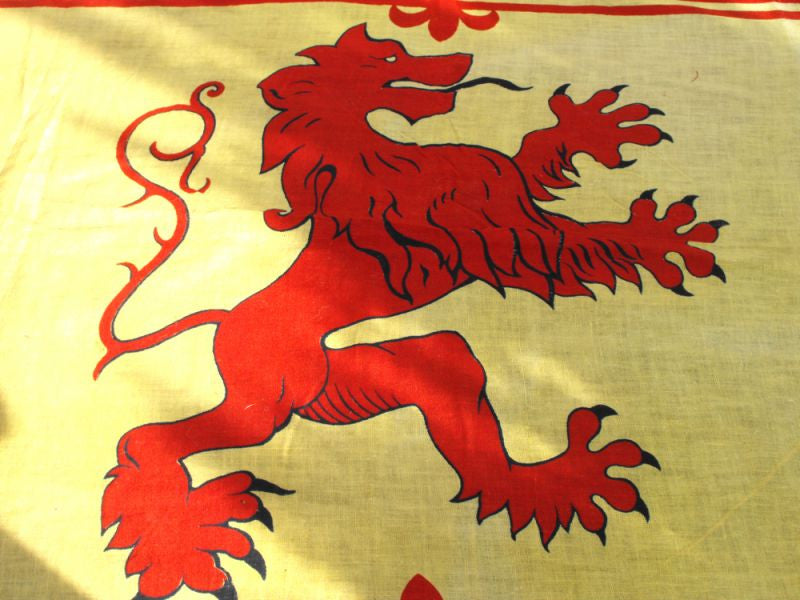 A Good Early 20thC Scottish Lion Rampant Flag or Royal Standard of Scotland