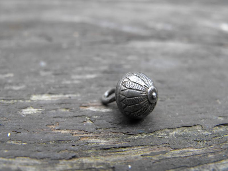 A Very Fine Elizabethan/Tudor Period Silver Button Modelled as a Flower