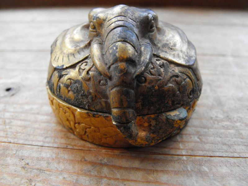 A Rare Chinese Ming Dynasty Gilt Bronze Pot Formed as An Elephant's Head