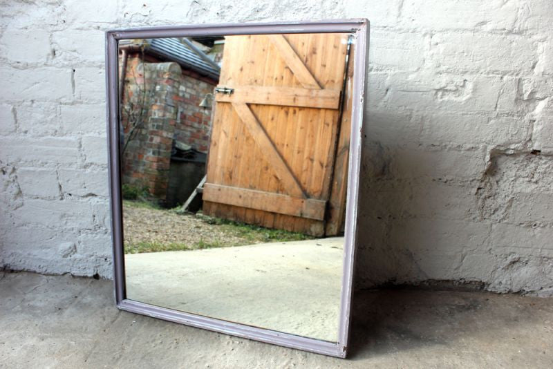A Pretty Painted Mid 20thC Solid Mahogany Mirror