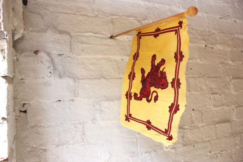 A Good Vintage Handheld Scottish Lion Rampant Flag / Royal Standard of Scotland