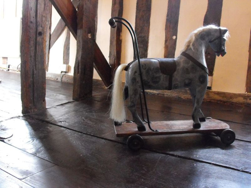 A Vintage Victorian Style Pony on Wheels