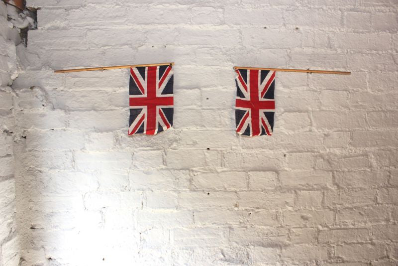 A Pair of Vintage Hand-Held Union Jack Flags c.1930-40