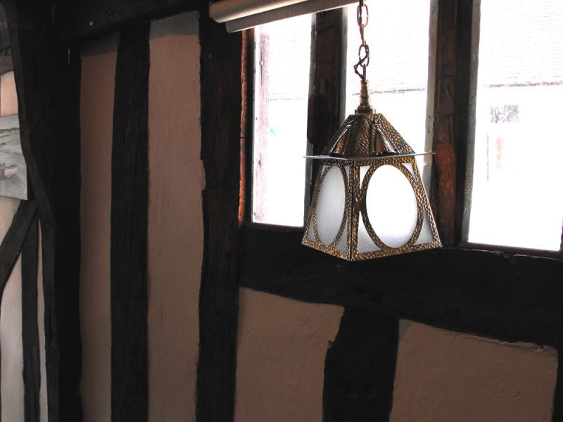 A Brass Arts and Crafts Hall Lantern
