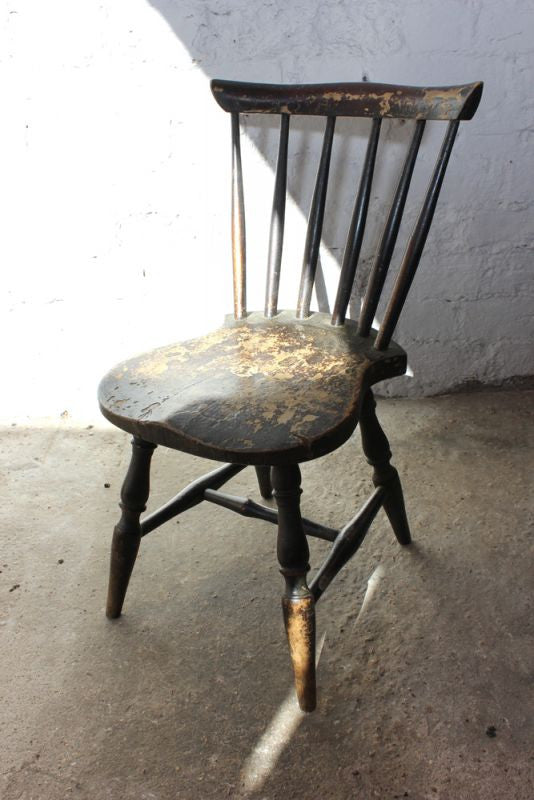 An Evocative Victorian Spindle Back Child's Chair