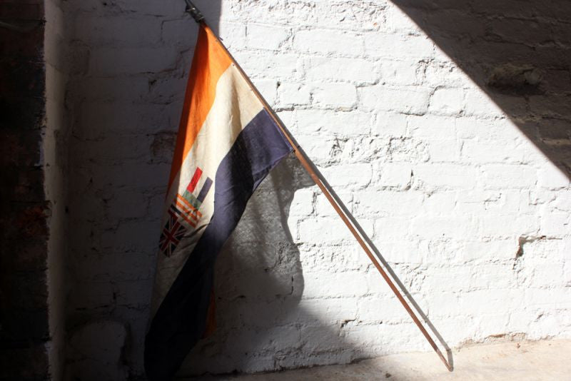 A Scarce British Empire Union of South Africa Flag Mounted on a Pole