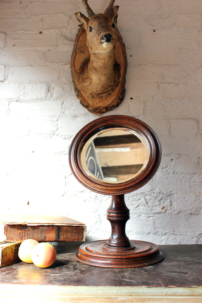 A Very Good George III Mahogany Gentleman's Shaving Mirror c.1820