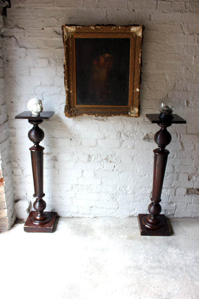 A Quality Pair of Late Victorian Aesthetic Period Mahogany Jardinière Stands