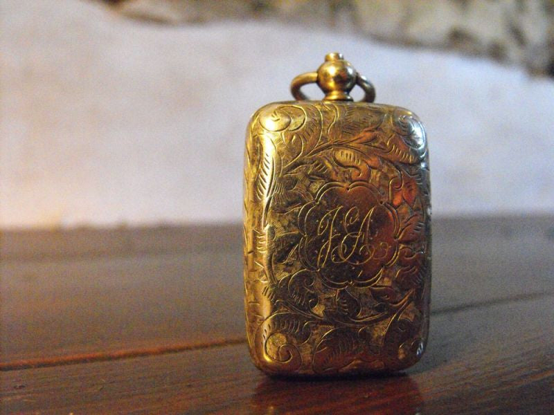 A Late Nineteenth Century Engraved Silver Box