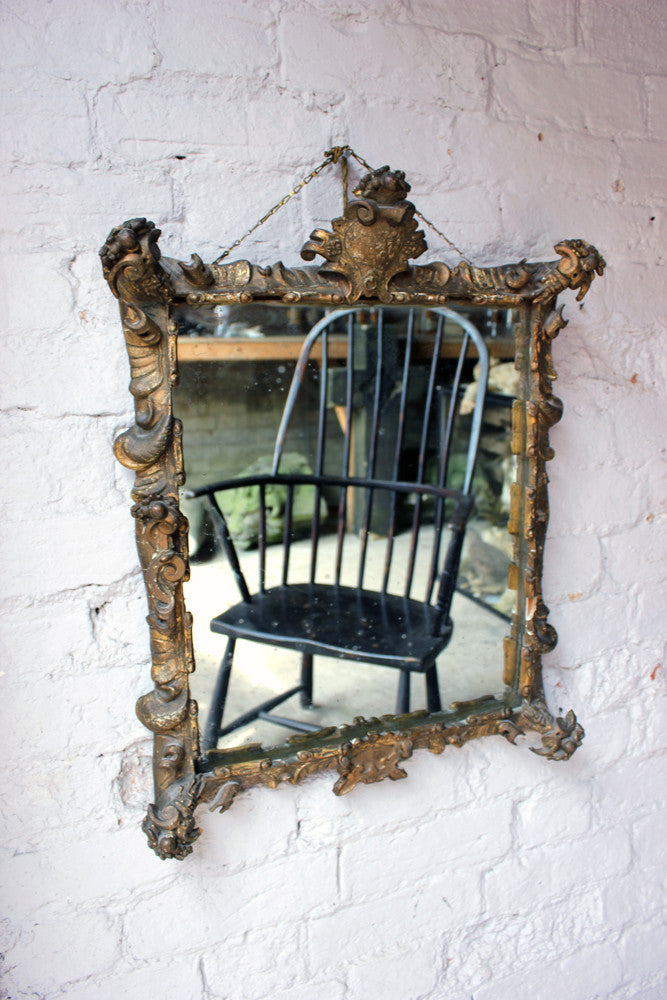 A Sublime Mid 19thC Rococo Revival Gilt & Gesso Framed Wall Mirror