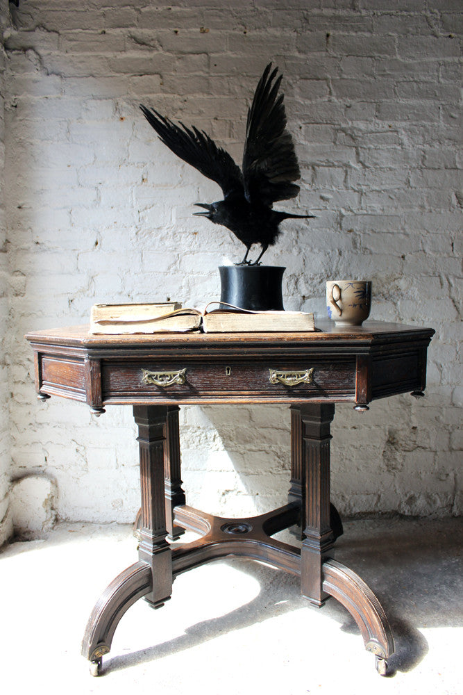 A Fine Contemporary Taxidermy Crow Mounted on an Edwardian Period Top Hat