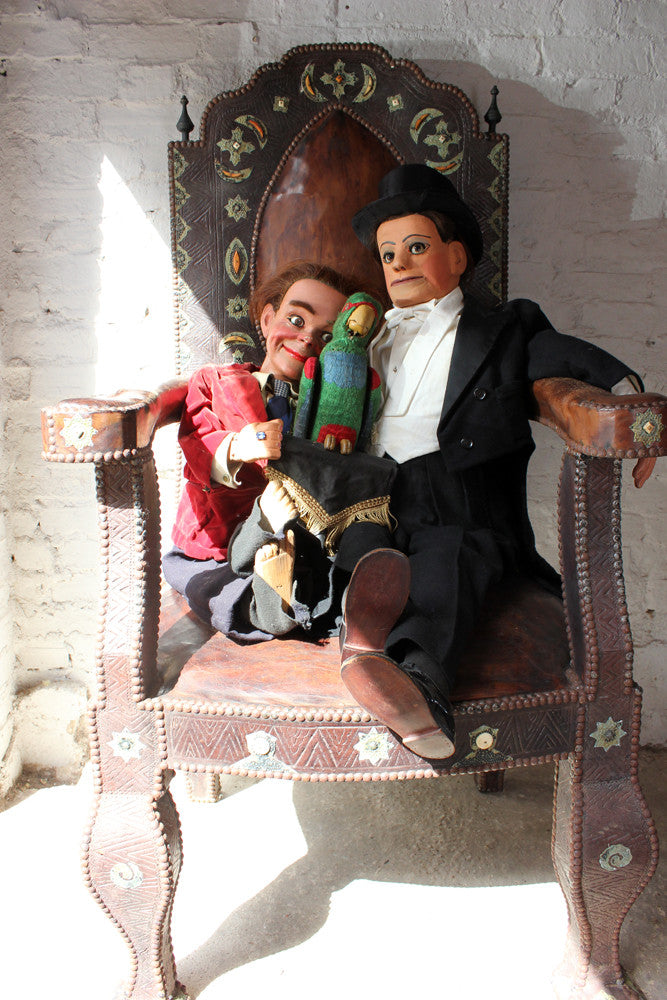 A Fantastic Trio of c.1930-50 Ventriloquist's Dummies; Peter King Esq, Entertainer