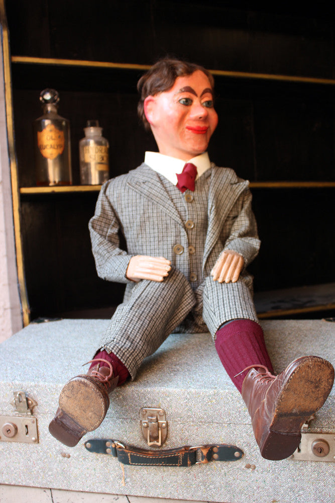 A Very Rare c.1895 Cased Ventriloquist's Dummy by Alfred LeMare