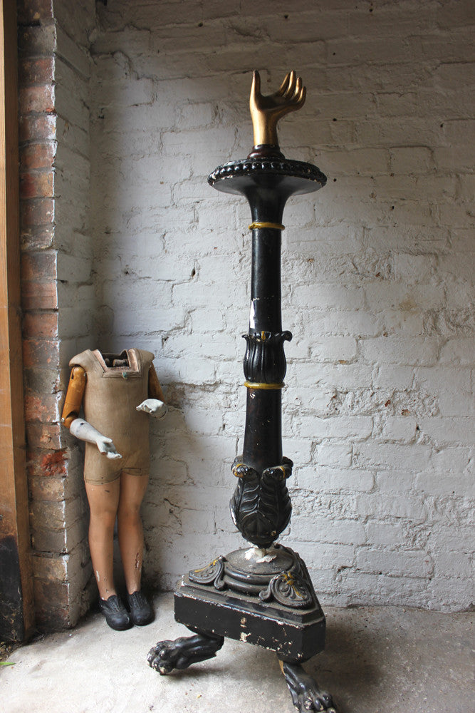 A Regency Period Carved Stone & Gesso Torchère Candelabra