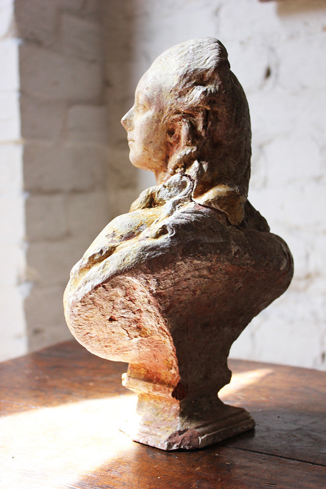 A Wonderful 18thC French Terracotta Bust of a Courtly Lady