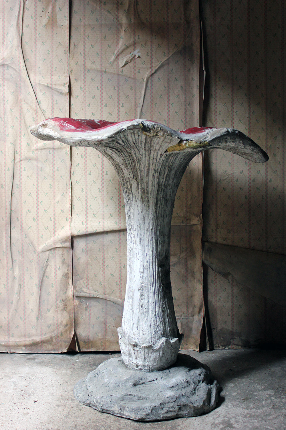 A Large Stylised Mid-20thC Painted Plaster & Fibreglass Theatre Prop Model of a Fly Agaric Toadstool