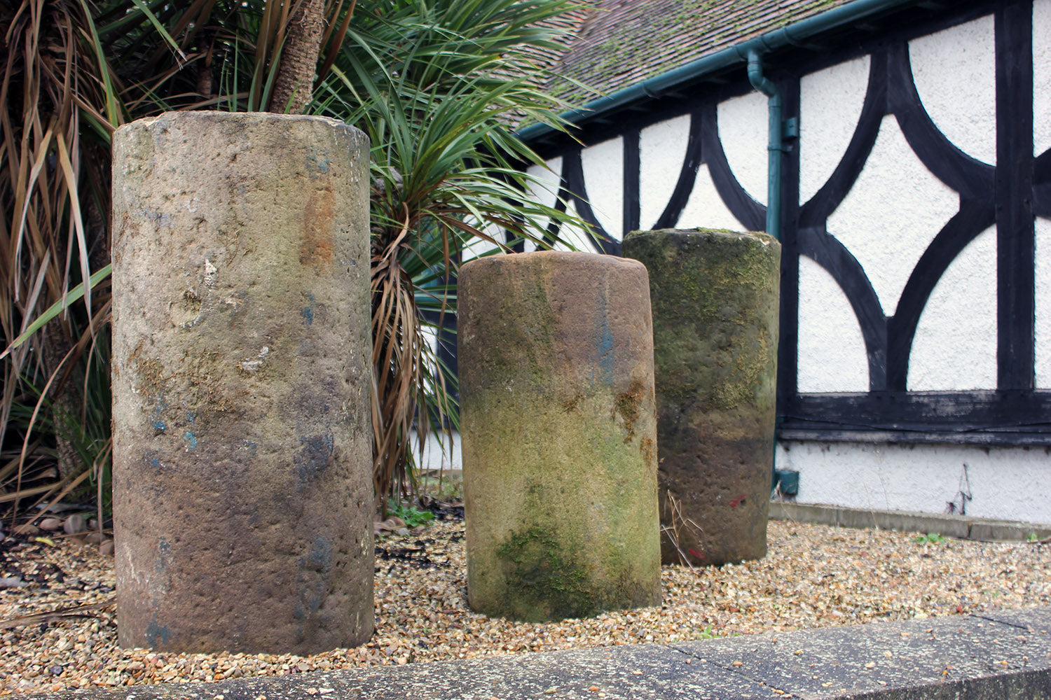 A Trio of Yorkshire Monastic Stone Columns; The Benedictine Monk Estate, Whitby