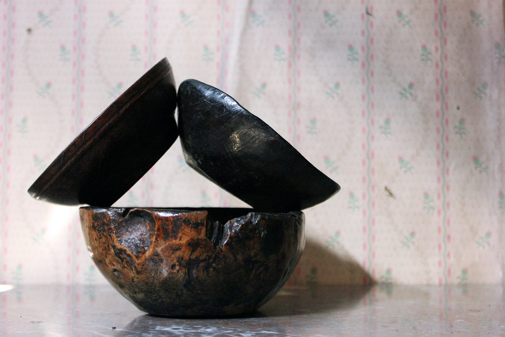 A Group of Three 19thC Treen Bowls
