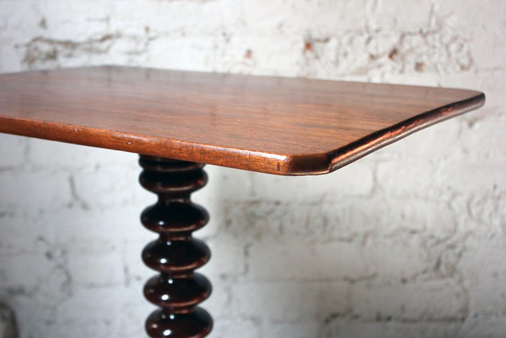 An Attractive Mahogany Bobbin Turned Tilt-Top Tripod Table c.1890