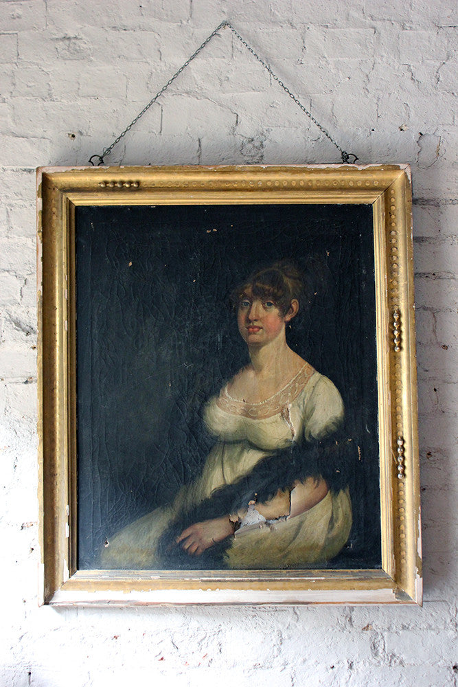 A Charming Early 19thC English School Portrait of a Lady c.1800-7