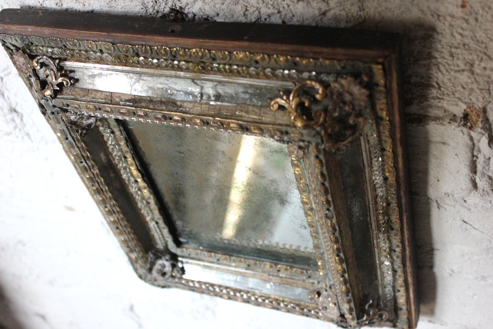 A Beautiful c.1780 Venetian Glass & Ormolu Mounted Wall Mirror