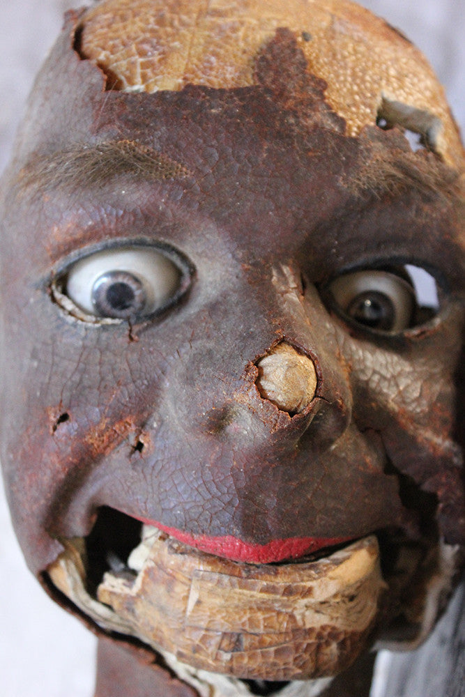 An Early 20thC French Ventriloquist's Dummy Head c.1910-20