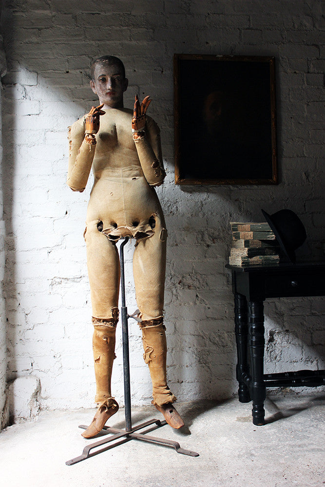 A Wonderful 19thC German Life Size Articulated Mannequin Formerly of the Studio of Franklin Watkins (1894-1972)