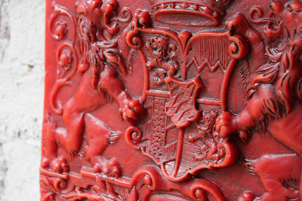 A Scarce Early 19thC Red-Wax Armorial Plaque for The Arms for the Kingdom of Bavaria c.1835