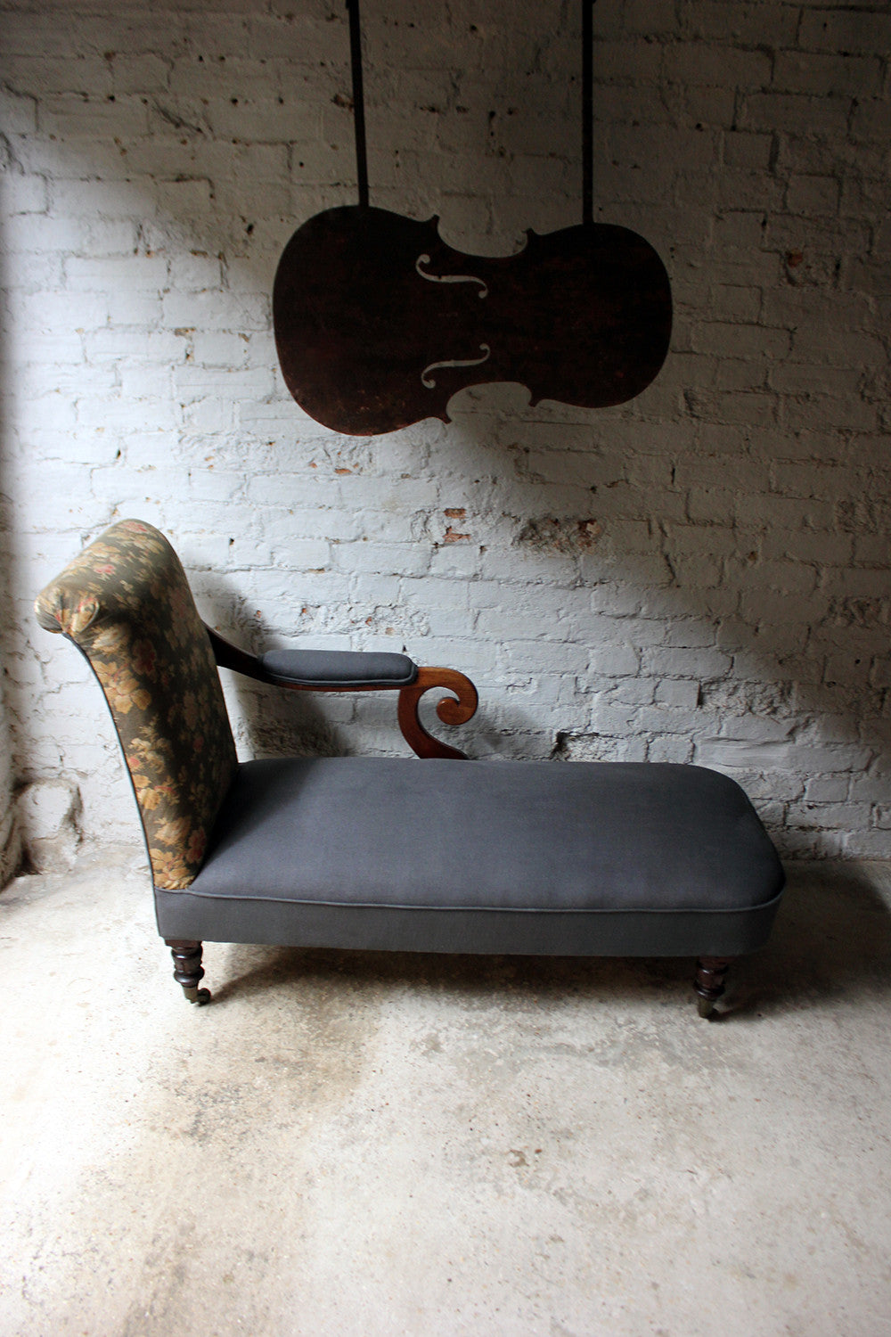 Antique unusual attractive william iv period mahogany for Antique chaise longue ebay