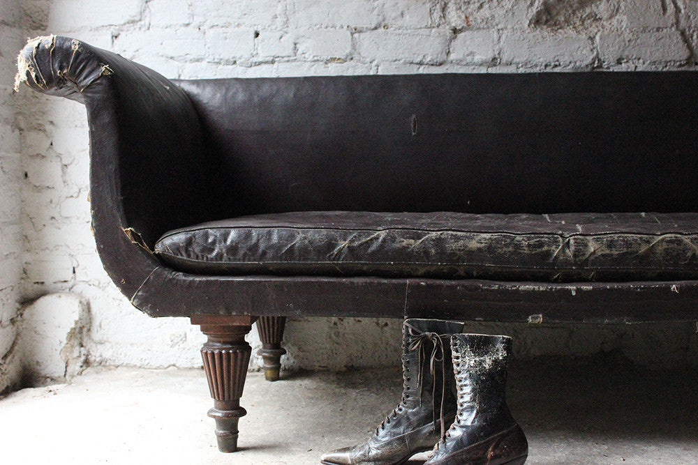 A Decorative William IV Period Rexine Upholstered Settee c.1835