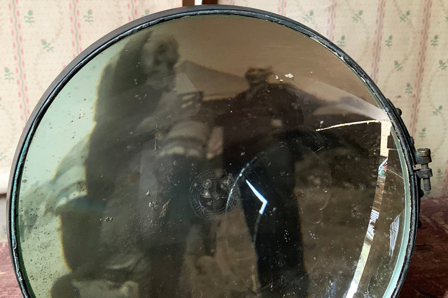 A Mid 20thC WWII Period Parabolic Concave Mirror; No.617
