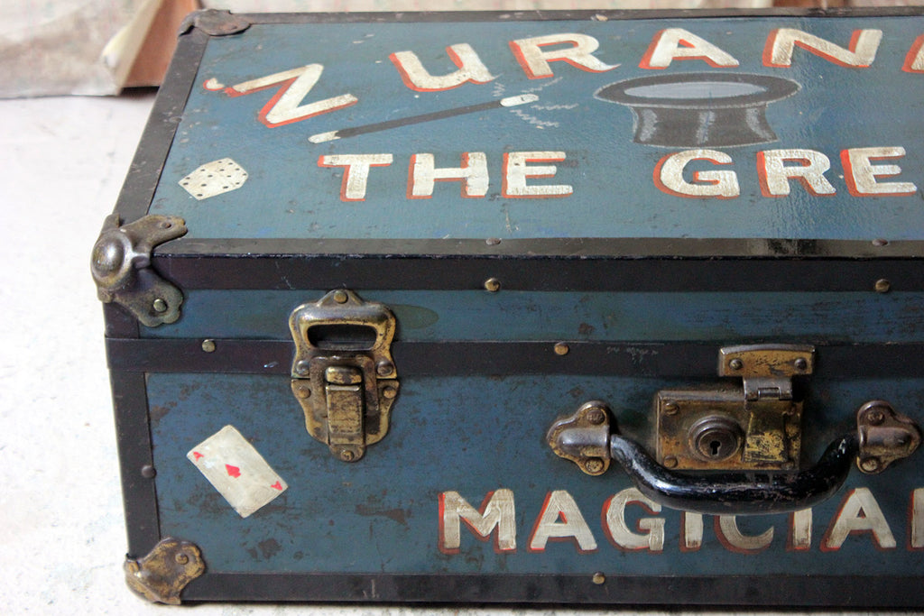 "An Early/Mid 20thC Magicians Travelling Suitcase; ""Zurando The Great"" c.1940"