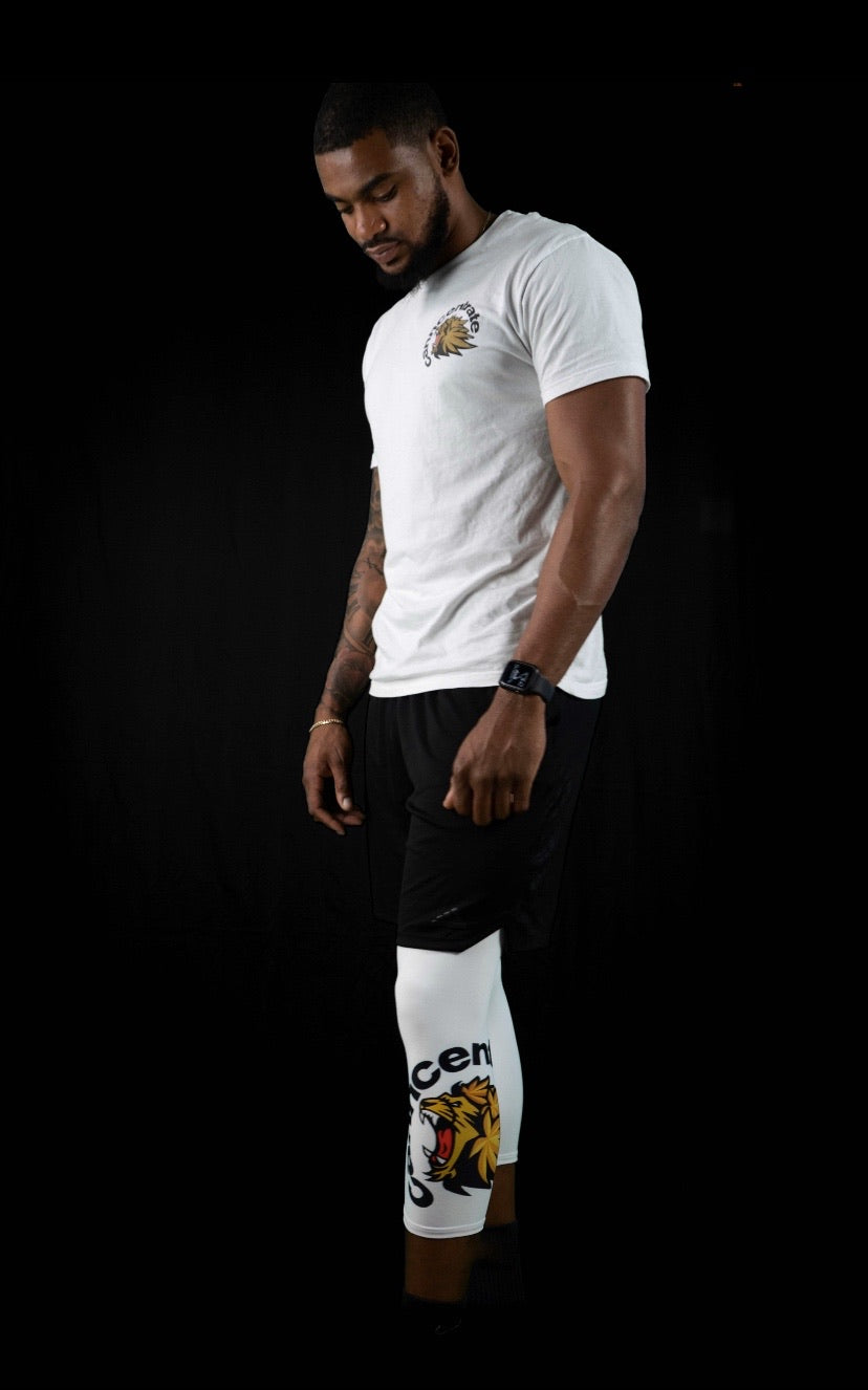 Men's White Gym Leggings