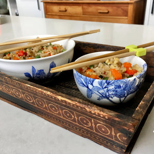 Easy Fried Rice Recipe in Caskata Arbor Bowls
