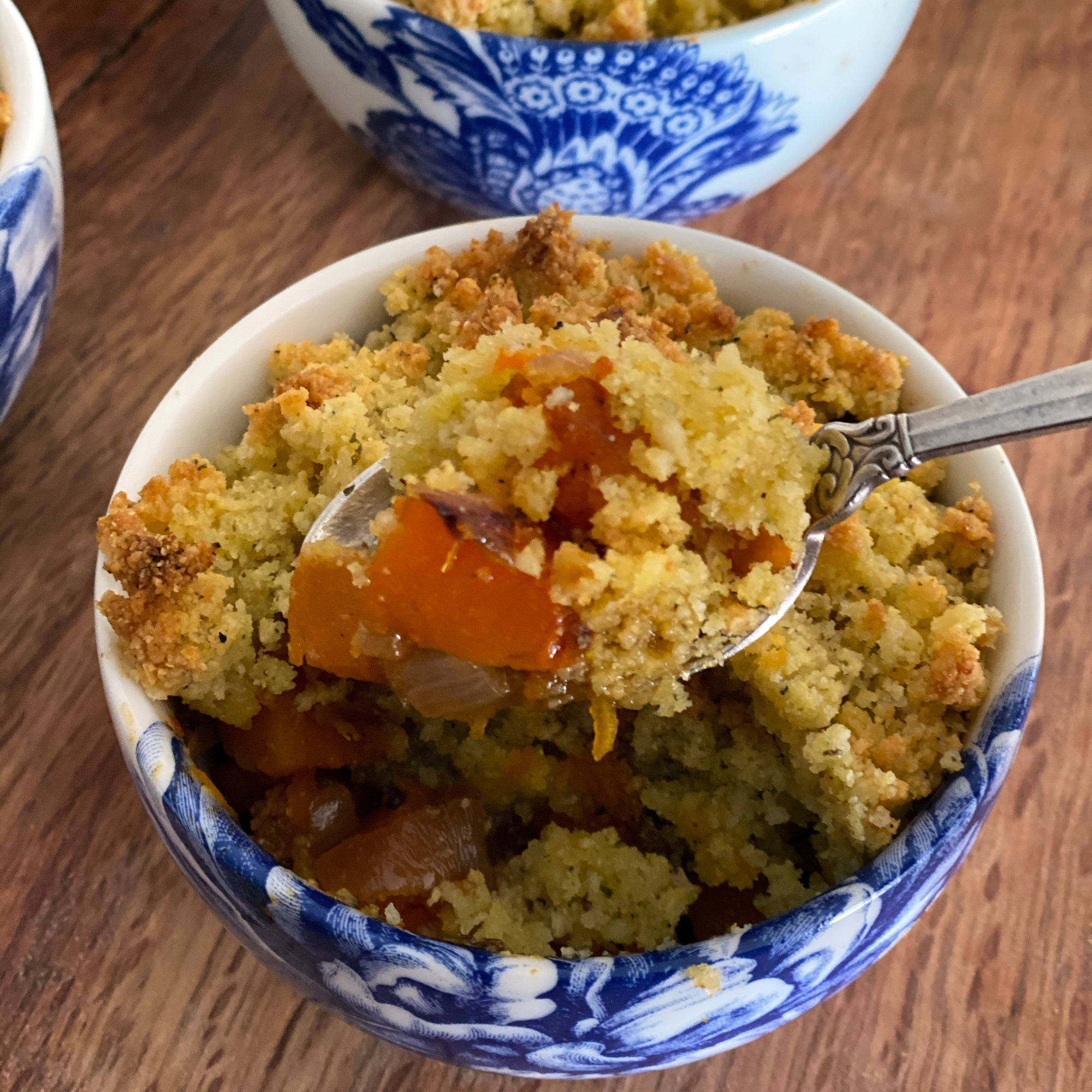 Butternut Squash Crumble and Caskata Arcadia Snack Bowl single serving size