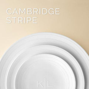 Cambridge Stripe Monogrammed Plates & Accessories